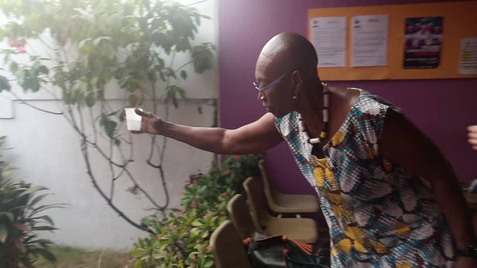 Mme Germaine ACOGNY en visite au Centre Chorégraphique de Cotonou ''Multicorps''